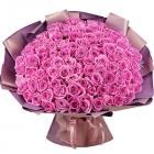 Букет из 101 розовой розы 40 см
